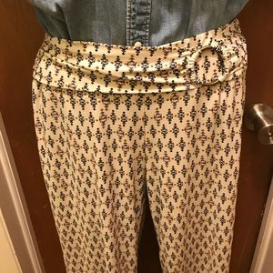 Flowy soft pants wide leg size medium neutral work